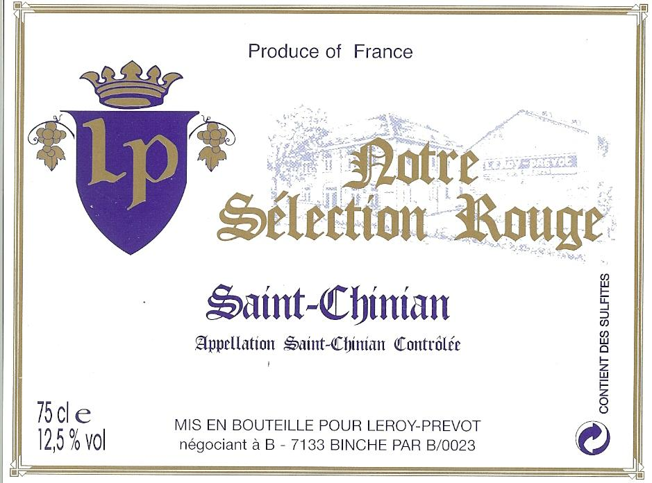 Sélection Rouge: Saint-Chinian 75Cl